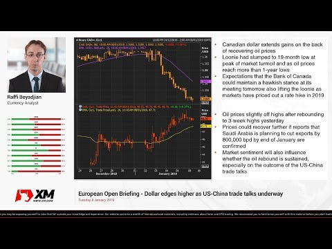 Forex News: 08/01/2019 - Dollar edges higher as US-China trade talks underway
