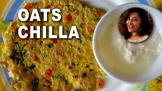 Oats Chilla - Weight Loss Breakfast - Diet recipe by Deepti Tyagi