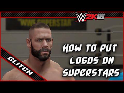 WWE 2K16 How to put logos on Superstars - Glitch