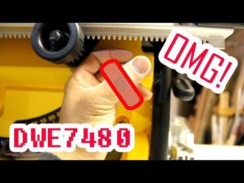 Dewalt Jobsite Table Saw DWE7480 Unboxing and Review   JURO Workshop