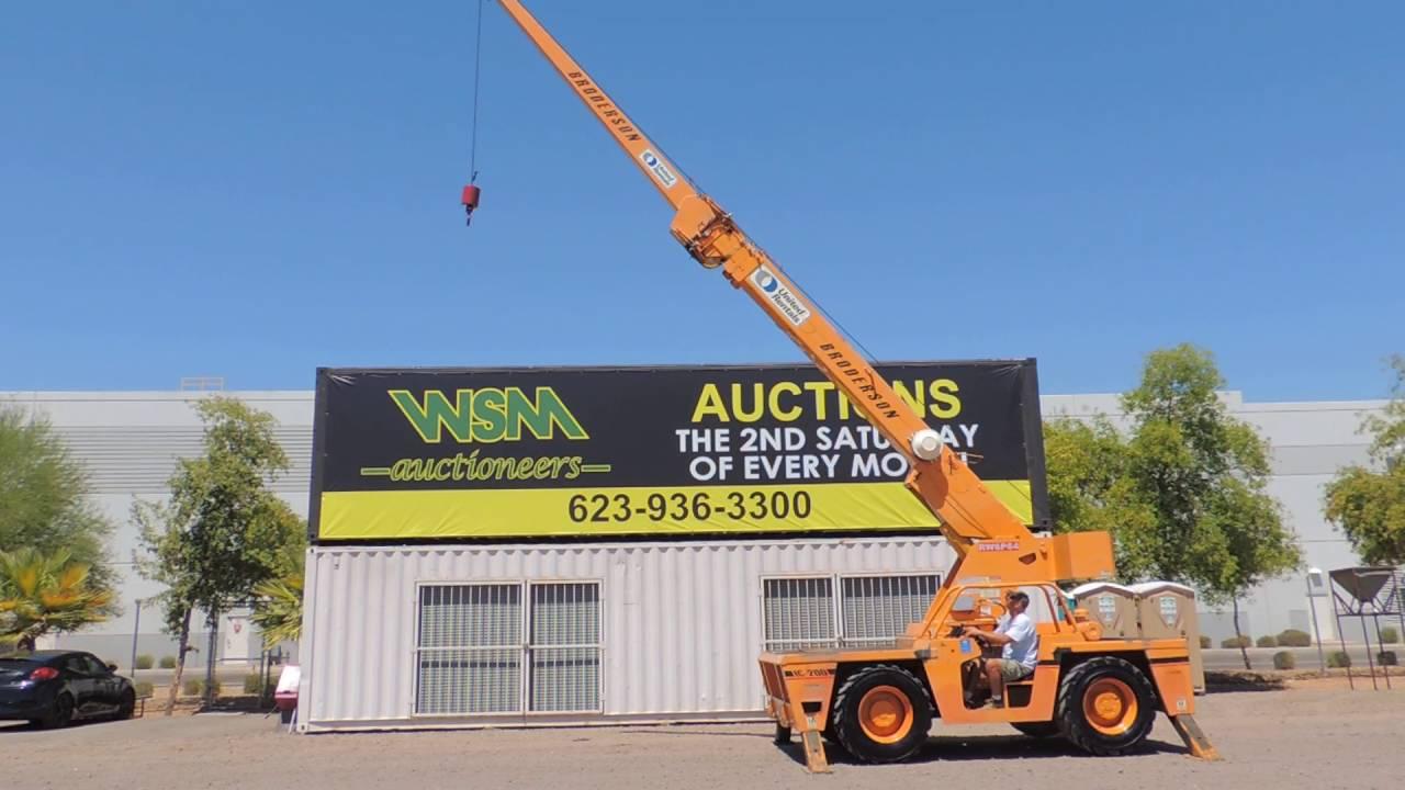 2003 Broderson IC-200-2E 30,000# Carry Deck Crane at Public Auction