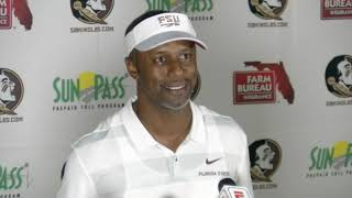 Florida State head football coach Willie Taggart after 38-17 win over Wake
