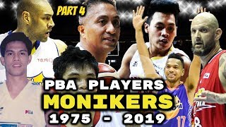 Complete List of PBA Player Nicknames and Monikers (Part 4)
