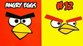 """Angry Birds funny series """"Angry Eggs"""" #12 - Kinder surprise egg toy opening EPIC fun movie (SC4K)"""