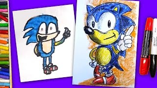 Рисуем СОНИКА / How To Draw Sonic The Hedgehog / Уроки с Тамерланом(У нас получилось! Мы с Тамерланом рисуем ёжика Соника. Тамерлан расскажет про себя и мы обсудим Соника. Вы..., 2016-07-21T05:15:24.000Z)