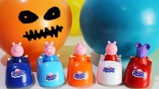 СВИНКА ПЕППА на русском Лопаем Шарики Развивающее видео для детей Peppa pig Мультики для малышей