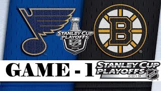 St. Louis Blues Vs Boston Bruins  Final  Game 1  May.27 2019  Stanley Cup 2019  Обзор матча