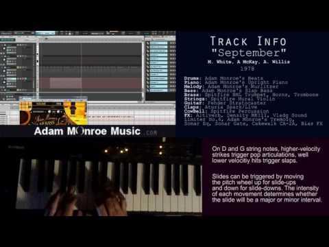 Slap Bass VST AU Kontakt Adam Monroe's Slap Bass V2