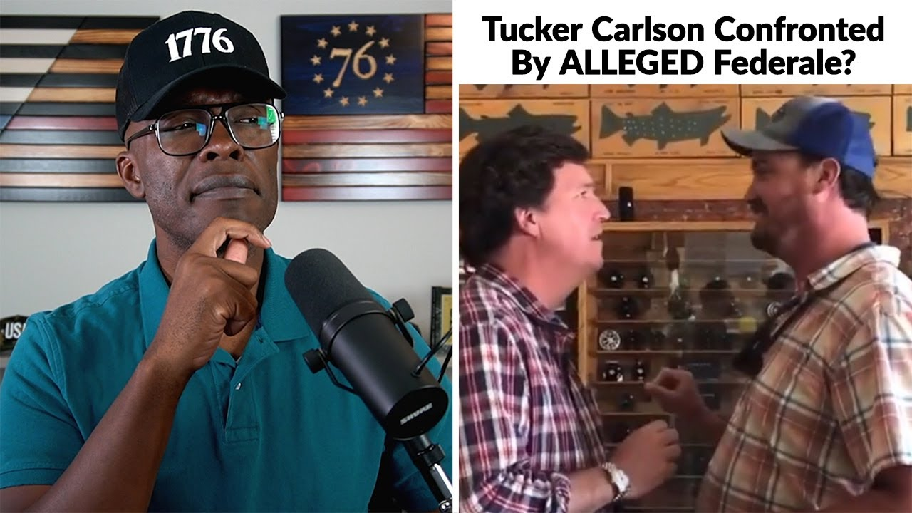 Tucker Carlson CONFRONTED By Alleged FEDERALE!?