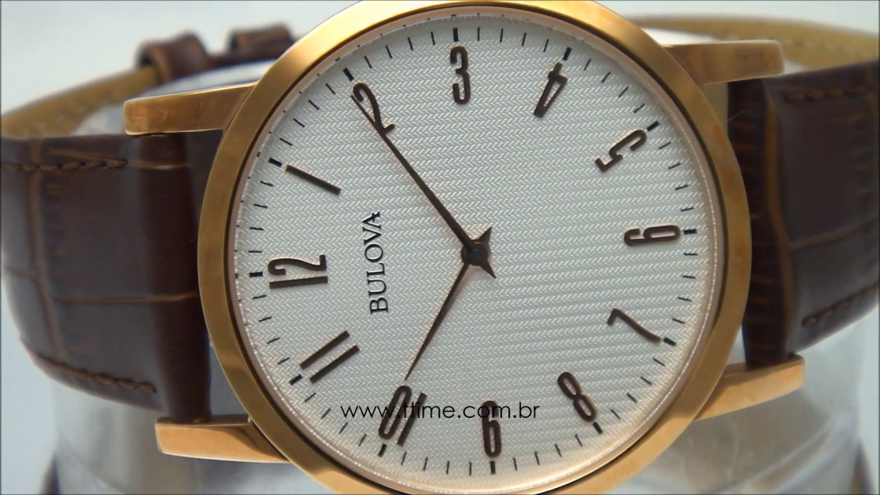 dc31bd28af5 Relógio Bulova Classic WB21892S - YouTube