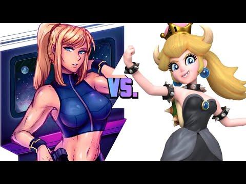 Super Smash Bros Ultimate: Zero Suit Samus (Shorts) vs. Bowsette (Mii)