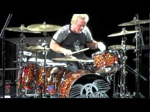 Aerosmith  Joey Kramer Drum Solo  Rag Doll 862012 Hollywood Bowl