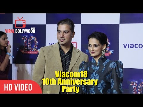 Varun Badola With Wife Rajeshwari Sachdev At Viacom18 10th Anniversary Party