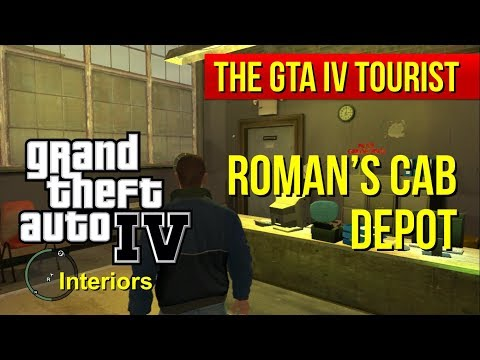 The GTA IV Tourist: Roman's Cab Depot and Office Interior