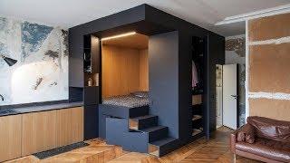 дизайн СМАРТ-КВАРТИРЫ 17-25 кв.м. Идеи дизайна квартиры миниатюрного размера. Дизайн гостинки
