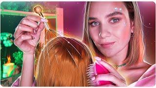 Мощный МАССАЖ ГОЛОВЫ Звуки Волос Расчесывание АСМР Realistic Scalp Head Massage ASMR