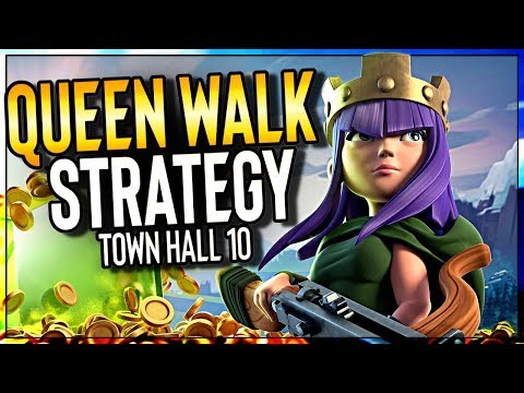 BEST Queen Walk Strategy For Town Hall 10 In Clash