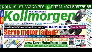Kollmorgen Repair servo motor Repair encoder problem Heidenhain Resolver Adjustment Installation