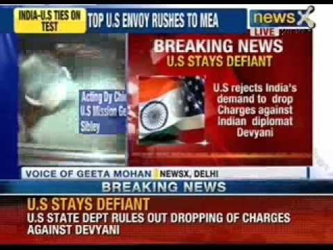 US stays defiant, rejects India's demand to drop charges against Indian Diplomat Devyani