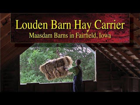 Demonstrations of the Louden Barn Hay Carrier at Maasdam Barns, Fairfield, Iowa