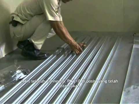 plafon dari baja ringan cara pemasangan sistem rangka metal youtube