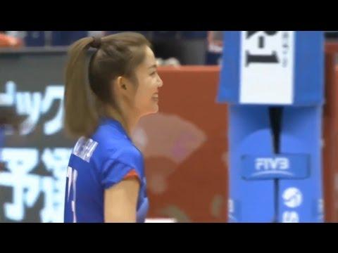นุศราทำแต้มจากจังหวะสอง @ วอลเลย์บอลหญิงโอลิมปิกรอบคัดเลือก ไทย - โดมินิกัน [14.5.59]