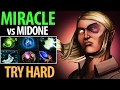 Miracle- Dota2 [Invoker] vs MidOne & Trash Talker- Try Hard