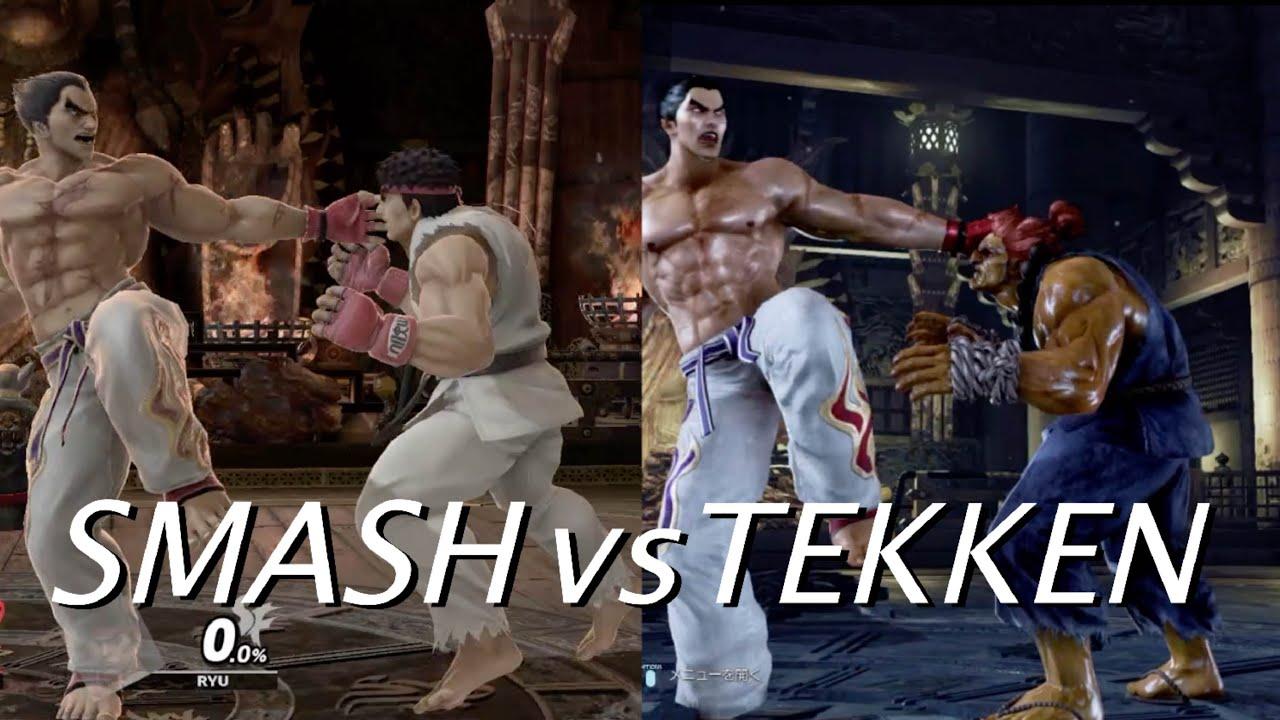 Super Smash Bros Ultimate vs Tekken 7 Kazuya Mishima skills comparison / スマブラvs鉄拳 カズヤの技モーション比較