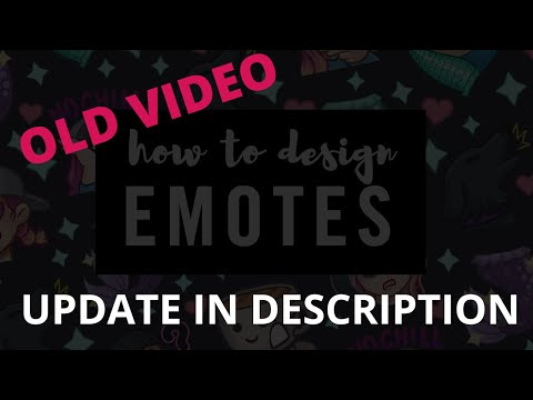 How To Design EMOTES For TWITCH [CC]