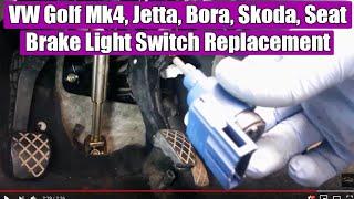 How to remove brake light switch VW, Audi, Skoda, Seat in 3 steps