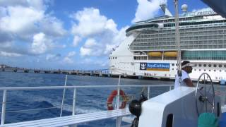 Freedom Of The Seas Seen From The Catamaran, Cozumel Mexico, April 2012