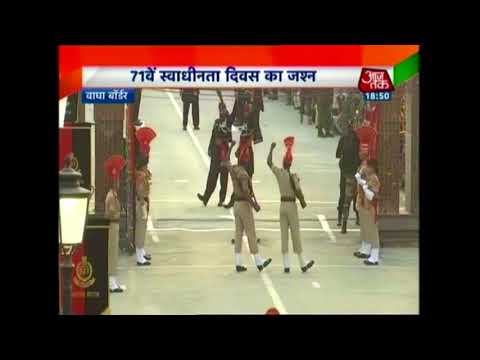BSF, Pakistani Rangers Exchange Pleasantries At Attari-Wagah Border On Independence Day