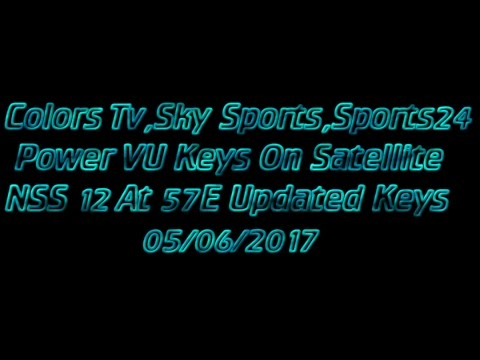 Sports24,Sky Sport,Colors Tv EMC Keys On Satellite NSS12 At 57E (2017)