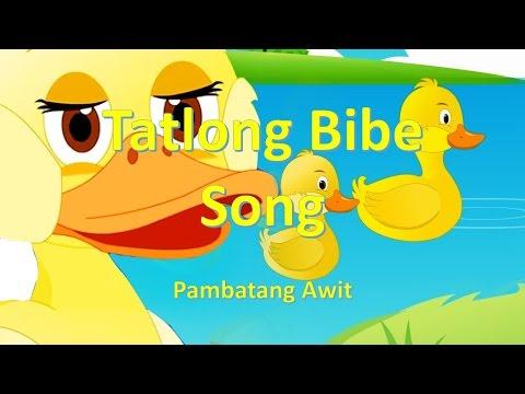 Tatlong Bibe Awit Pambata (With Lyrics)