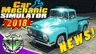 Car Mechanic Simulator 2018 NEWS!  Cars, Features, Jobs, & MORE! (PC)