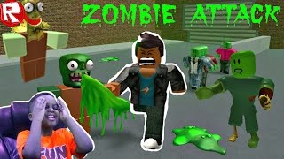 ZOMBIES WANT TO EAT MY BRAIN! - Let's Play Roblox Escape The Mall! - Playonyx