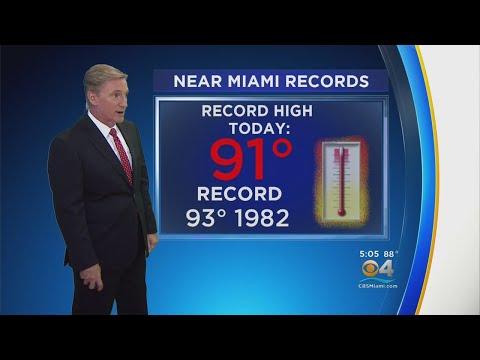 HOT DAY: Miami Comes Close To Setting New Record High Temperature