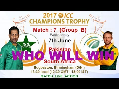 7th Match, Pakistan vs South Africa,  Group B ICC 2017 World Cricket   Championship 2 2017 Gameplay