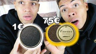 1€ KAVIAR VS 75€ KAVIAR !!! | PrankBrosTV