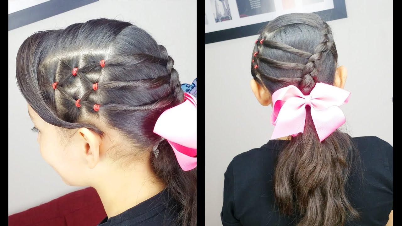 cola y banditas elasticas accented ponytail peinados faciles peinados para nias youtube