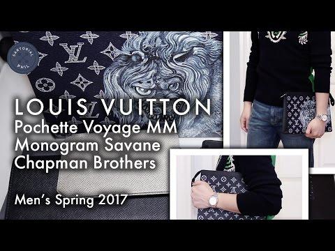 89f35acf0 Louis Vuitton Monogram Savane Pochette Voyage MM Chapman Bros In-Depth Look