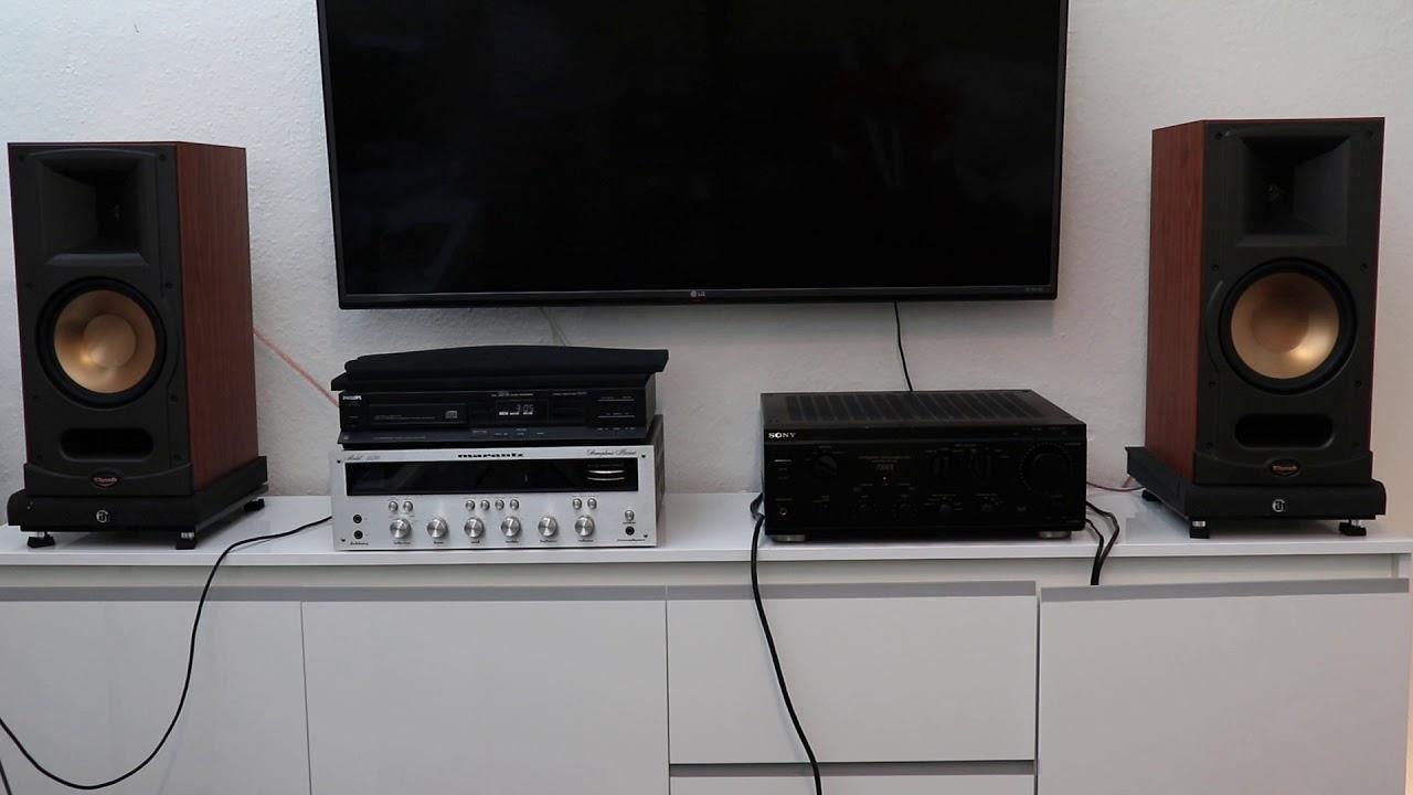 klipsch rb 81 sony ta f730es philips cd 471 audio test. Black Bedroom Furniture Sets. Home Design Ideas