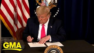 Trump signs executive order for coronavirus relief | GMA