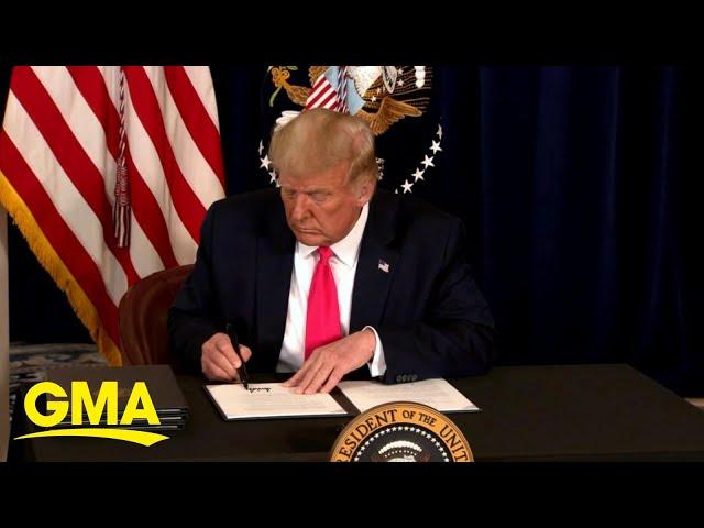 Trump signs executive order for coronavirus relief