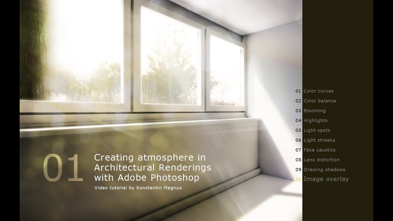 Creating atmosphere in architectural renderings adobe photoshop creating atmosphere in architectural renderings adobe photoshop tutorial youtube baditri Images
