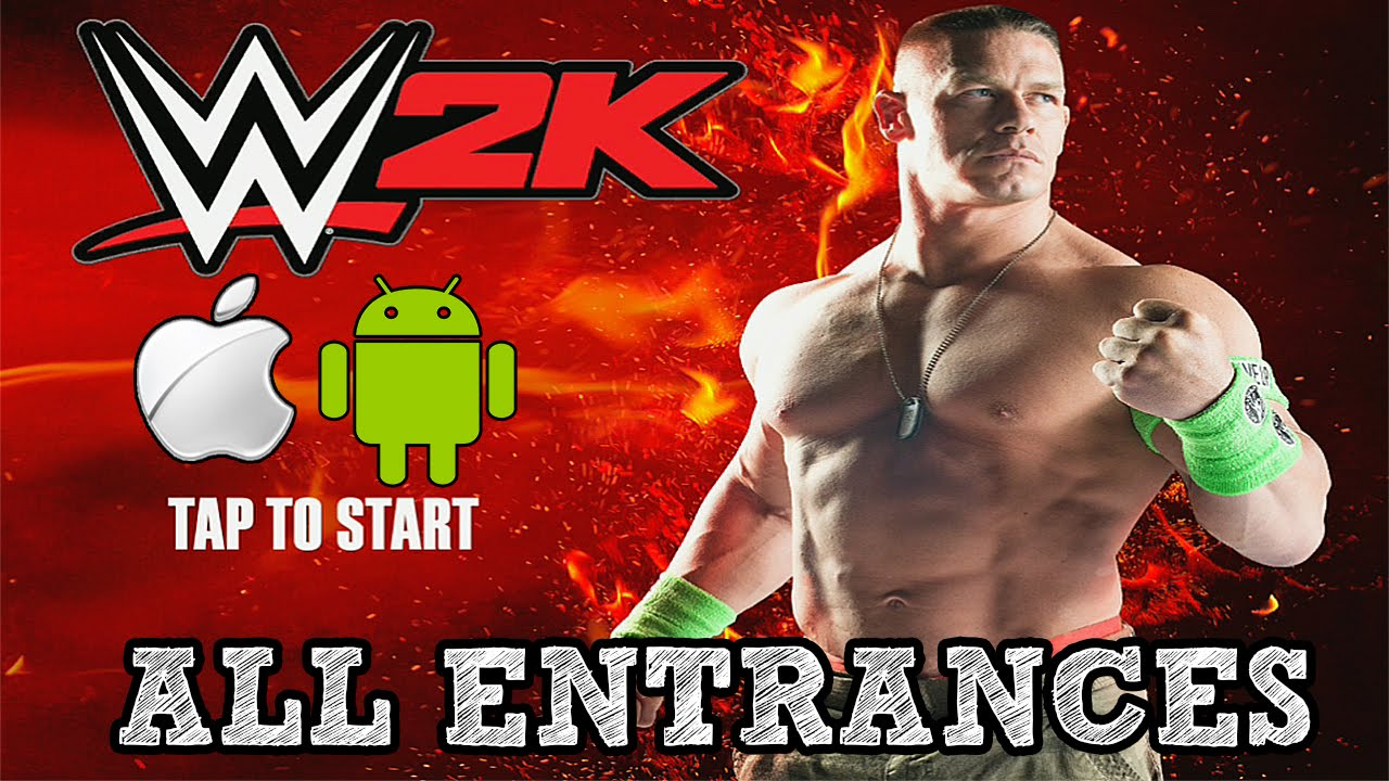 WWE 2K15 Mobile All Entrances HD! ( WWE2K15 IOS & Android )