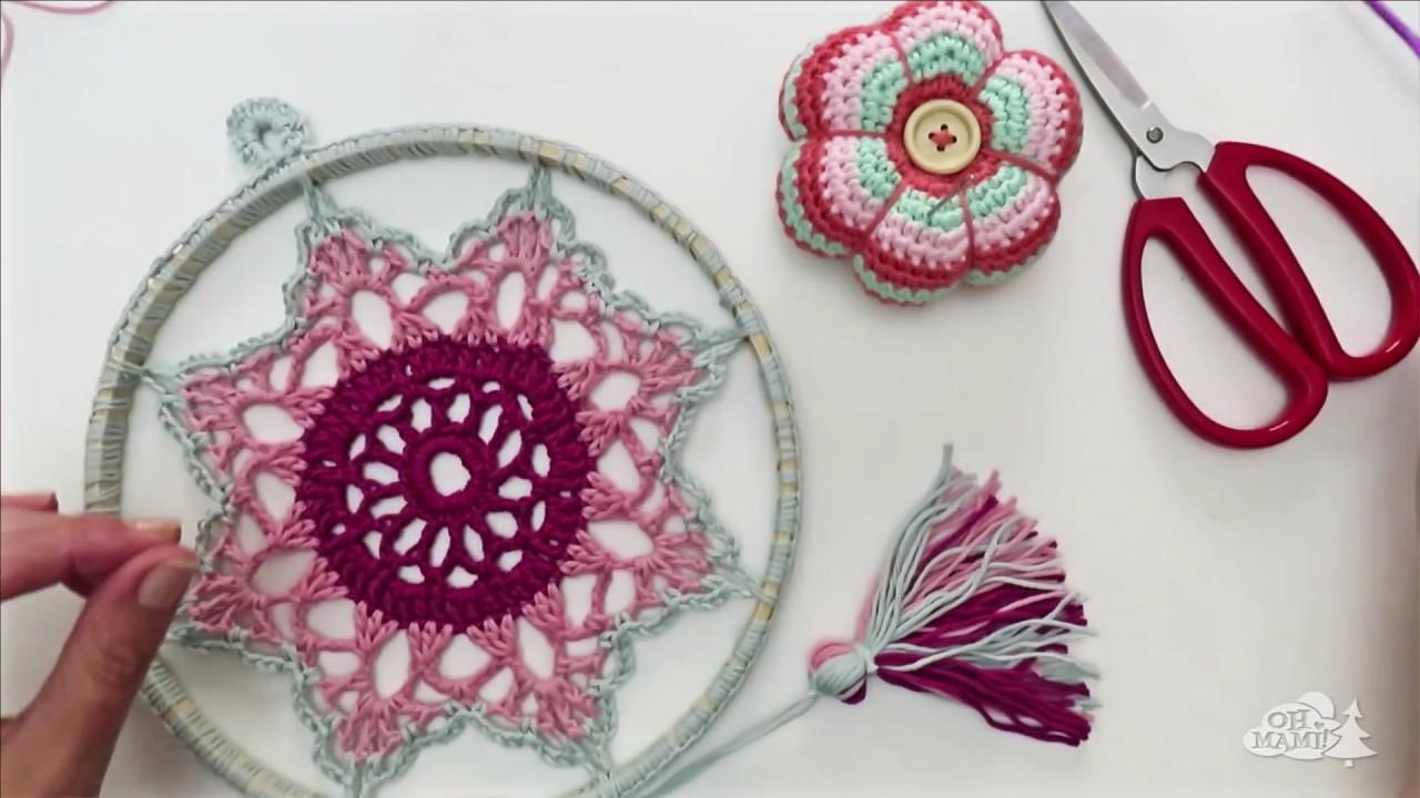 ATRAPASUEÑOS Mandala Estrella a crochet 2# ( Dream catcher) - YouTube