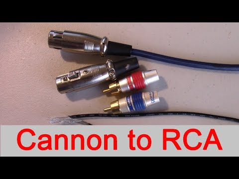 How To Connect Xlr Output To Rca Input Professional To Consumer High End Tube Audio Amplifiers Youtube