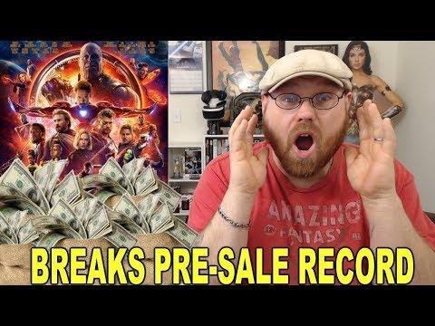 Avengers Infinity War Breaks Pre-Sale Record!!!
