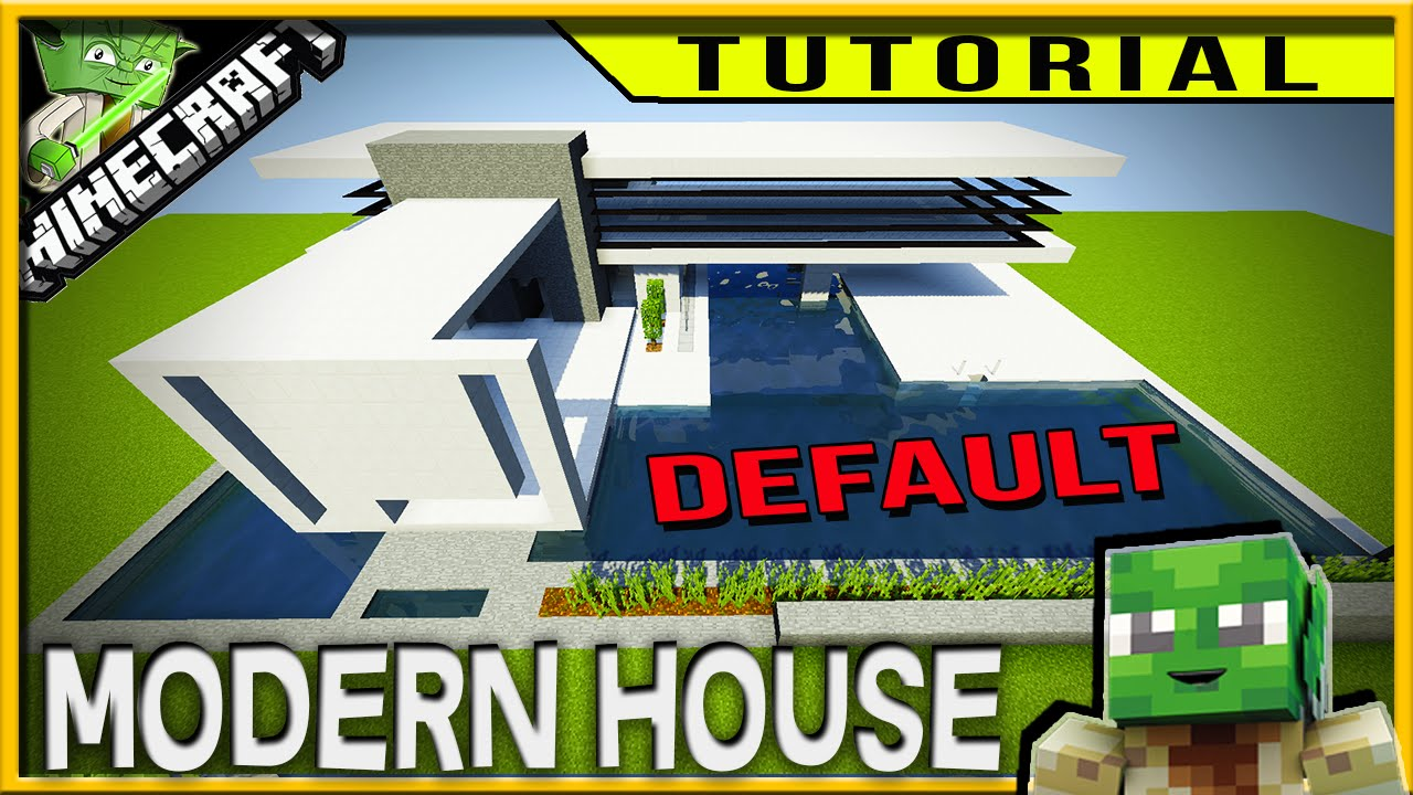Minecraft HOW TO BUILD A SIMPLE MODERN HOUSE IN DEFAULT easy to